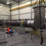 BP geel - Prefab piping van het Titanium Lion King project