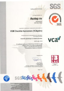 Asotep - VCApetro certificaat 2018